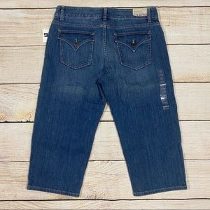 🆕👖GAP Curvy Flare Crosshatch Authentic Crop Jean